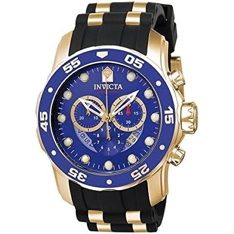 INVICTA  6983 - Reloj de cuarzo para hombre, con correa de plástico, color negro