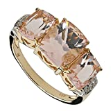 Harry Ivens Damen-Ring Gold Gelbgold 585 (14 Karat) Morganit Diamant RW20