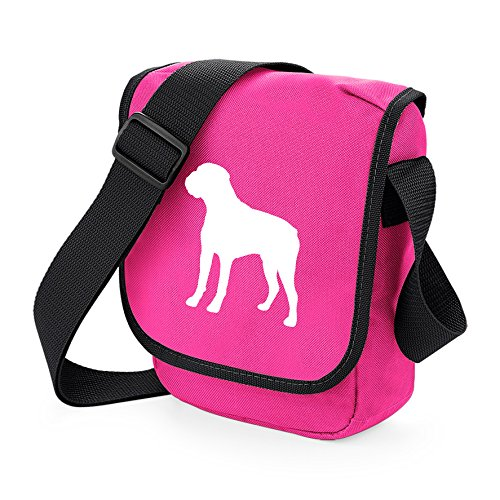 Bag Pixie - Borsa a tracolla Unisex �?Adulto White Dog Pink Bag