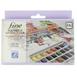 Lefranc & Bourgeois 601661 Box of 24 Watercolour Paints with Detachable Palette