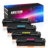 Amstech 4 Pack Kompatibel für HP CF540X HP 203X CF541X CF542X CF543X 203A CF540A Toner für HP Color Laserjet Pro MFP M281fdw HP MFP M281fdw HP Laserjet M254dw M254nw M254dn HP MFP M280nw M281fdn Farblaserdrucker Toner