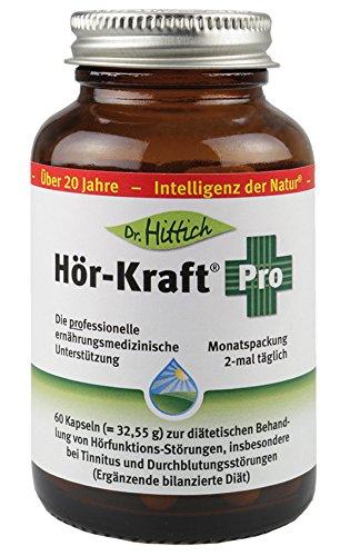 Carnitin-komplex 60 Tabletten (Hör-Kraft® Pro - 60 Ginkgo-Gehör-Tabletten - Zur diätetischen Behandlung von Hörfunktions-Störungen, insbesondere Tinnitus und Durchblutungsstörungen (Ergänzende bilanzierte Diät) - Von Dr. Hittich)