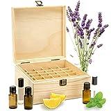lembeauty Boîte d'Huile Essentielle Organisateur Rangement en Bois Boîte de Stockage pour 25 Bouteilles (Type-B)
