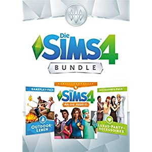 Die Sims 4 Bundle – An die Arbeit, Outdoor-Leben, Luxury Party Accesoires DLC | PC Download – Origin Code