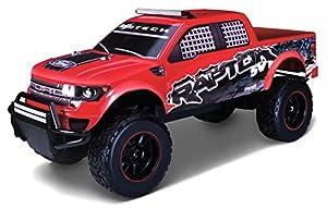 Maisto Tech - Ford F150 SVT Raptor 2.4 GHz, Coche con radiocontrol, Color Amarillo (81601-0)