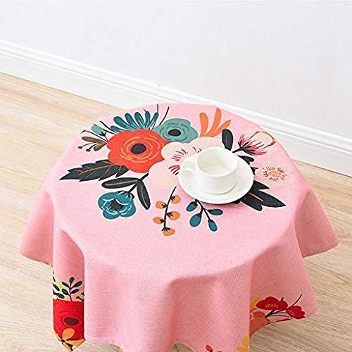 yuqin Pappteller Und Servietten, Baumwolle Hanf Tuch Kunst Einfache Rechteckige Teetisch Hochzeit Restaurant Party Tisch (Dieses Produkt Verkauft Nur (Größe: 140 * 200Cm) @ 140 * 140Cm -