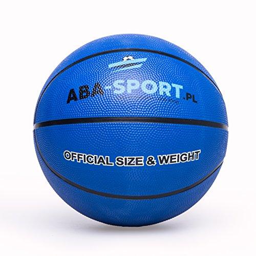 Basketball Ball | ABA Sport | Indoor und Outdoor | NBA Training | Basketbälle für Kidner und Erwachsenen | Größe 5 | Bälle | Farbenauswahl : Rosa Orange Blau (Blau)