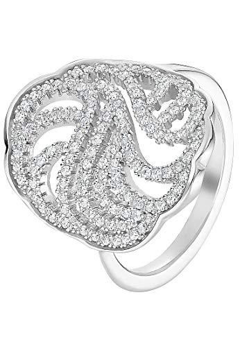 JETTE Silver Damen-Ring 925er Silber 124 Zirkonia silber, 59 (18.8)