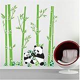 Zxfcccky Panda Bambus Bäume Wandaufkleber Abziehbilder Kinder Grünpflanzen VinylWandbild Kinder Erwachsene Familienhaus Zimmer Kinderzimmer Dekor