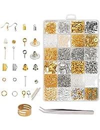 211ed5e7d740 kits para hacer bisutería ZoomSky 2438 pcs para restaurar viejas joyas de  anillo de latón de