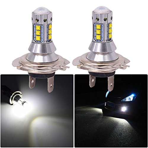 FEZZ 1000LM Extrem helle Auto LED Nebelscheinwerfer DRL Lampe H7 9V-30V DC 80W Weiß 2 Stücke