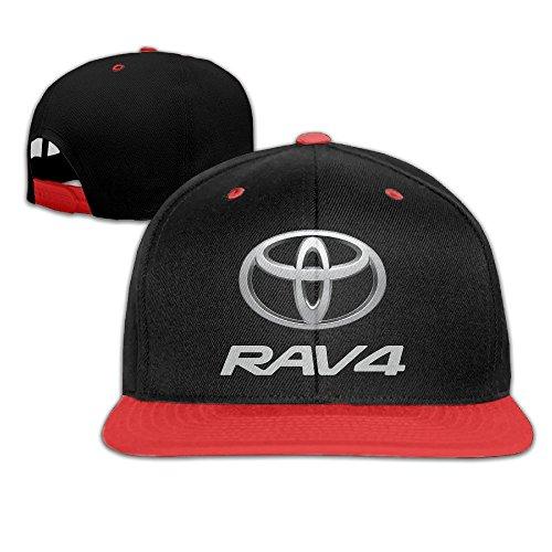 yhsukruny-kids-toyota-rav4-unisex-adjustable-hip-hop-hat-cap-red