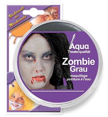Theaterschminke, farblich sortiert, Aquaschminke, Schminkfarbe auf Wasserbasis (Zombiegrau)