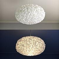 White Fluffy 2, Lampe Leuchte Lampenschirm Pendelleuchte Pendellampe Hängeleuchte Hängelampe Papierleuchte Papierlampe Reispapierlampe Designerlampe Wohnzimmerlampe Schlafzimmerlampe Deckenlampe