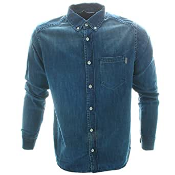 Carhartt Civil LS Shirt - Blue Fidelity Washed - Large