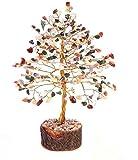 Rastogi Handicrafts Edelstein-Dekobaum, Glücks-Baum, Feng Shui, Dekoration, Vastu Karneol-Stein, Tisch-Dekor, (gemischter Baum)