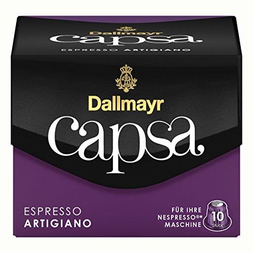 Dallmayr Capsa Espresso Artigiano Kaffeekapseln 10 Stück (Zucker-schaum)