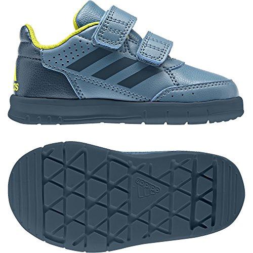 Adidas neo - Altasport cf i velcro - Chaussures scratch argent/bleu nuit/jaune soleil