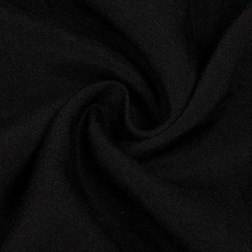 Culater® Robe maxi,Sexy manches Longues encolure en V des Femmes Solides Maxi Robe Longue Noir