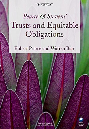 Pearce & Stevens' Trusts and Equitable Obligations by Robert Pearce (4-Dec-2014) Paperback