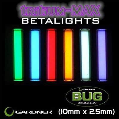 Gardner Tackle Tritium Max Betalights for Bug Indicators - Carp Fishing Isotopes from First4Fishing
