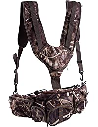 Huntvp Huntvp Hunting Camo Fanny Pack With Harness Waist Pack Pouch With Shoulder Straps For Climbing Hiking Camping...