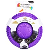 ZNOKA Fetching Frisbee Disc & Drinking Flying Disc Pets Toy EVA Flyer for Dog Puppy Play New Pet Toys (Small, Purple)