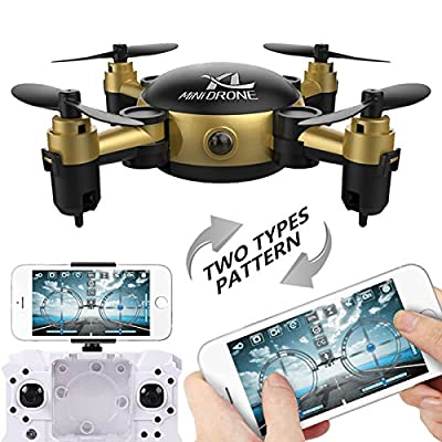 Hanbaili S18 mini Foldable Pocket Drone with Camera Live Video,One Key Return, Headless Mode Drone for Kids