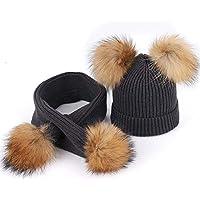BLACK ELL Sombreros de algodón de Punto e Invierno para niños, cálido y Confortable, máscara de esquí al Aire Libre c, 2