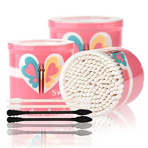Face Like 200pcs Cute Round Cotton Swab Buds Cosmetic Tool