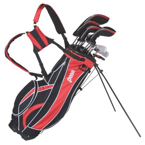 Penn MT-100 Top- Golfset 18-teilig für Herren incl. Golfbag, Ständer und Regenabdeckung