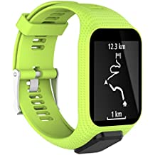 saihui banda correa para Tom Tom Adventurer/Runner 2 3/Spark/bujías 3/golfista 2 GPS HR watch-soft/Silicagel, color verde