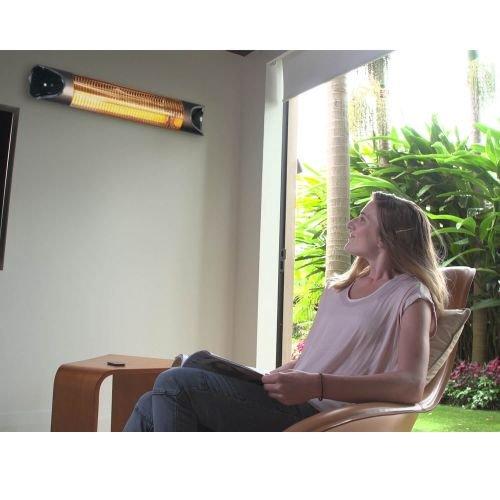 Genius Sunshine Blade | Infrarot-Heizstrahler inkl. Wandmontagezubehör | Carbonfaser | 220-240 V | 1700 – 2150 W | LED-Display | NEU - 3