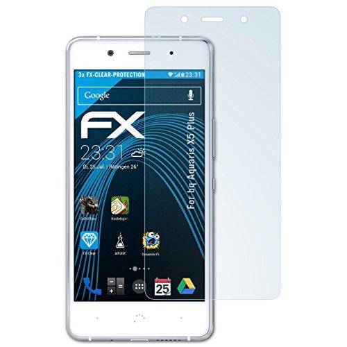 atFolix Schutzfolie kompatibel mit bq Aquaris X5 Plus Folie, ultraklare FX Bildschirmschutzfolie (3X)