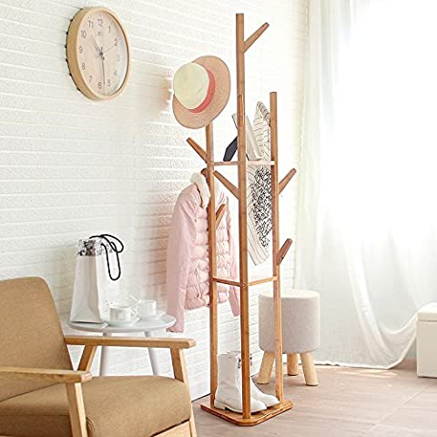 Camera da letto angolo piano abbigliamento moderno appendiabiti in legno massello rack/semplice