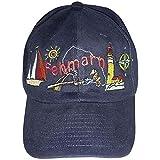 Fan-O-Menal Cap - Schirmmütze vielfarbig Bestickt - Insel Fehmarn - 68872 schwarz - Baumwollcap Cappy Baseballcap Hut