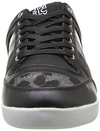Jim Rickey Carve Lo Leather Patent Animal Herren Sneaker Schwarz - Noir (Black Leopard)