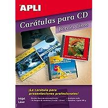 APLI Caratula CD Mate 185 gr. 10 Hojas x 1ud. Bordes lisos (no microperforada)