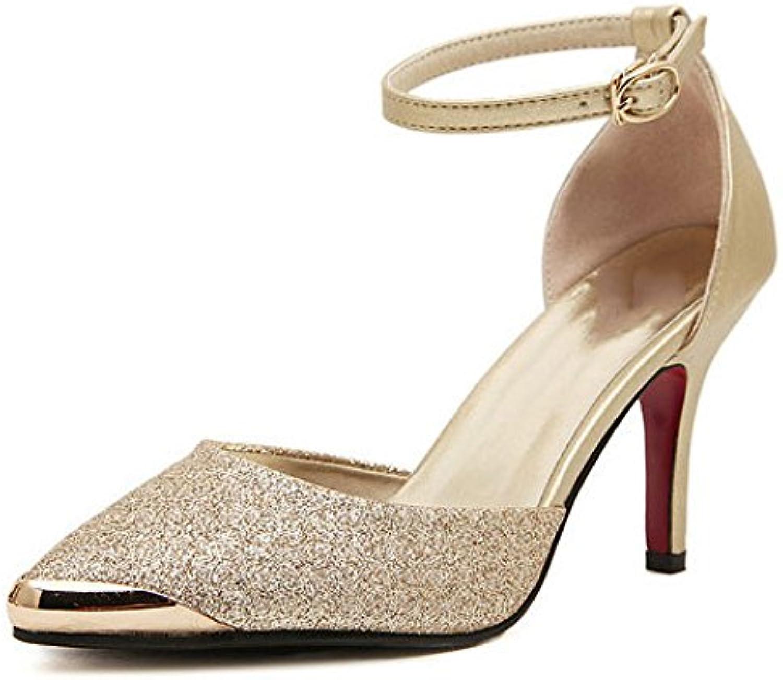 Femmes  s à La Cheville Strap Sexy Stiletto Chaussures Peep à Talons Hauts Dames Peep Chaussures Toe Robe élégante Pompes...B07CVXV83BParent 4917b2