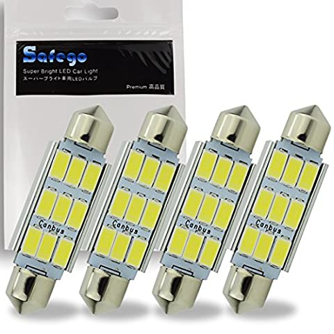 Safego 4 x C5W 41MM LED 5730 9SMD Voiture Ampoule