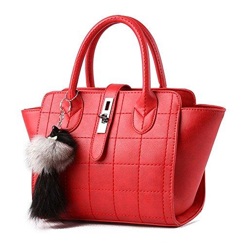 koson-man-damen-pu-leder-vintage-fox-dekorieren-tragetaschen-top-griff-handtasche-rot-rot-kmukhb060