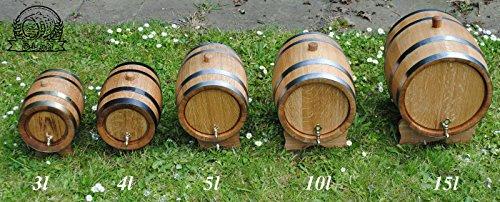 Eichenfass, Holzfass, mehrere Größen, holz, 5 l