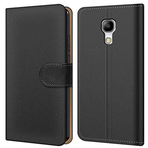 Conie BW33467 Basic Wallet Kompatibel mit Samsung Galaxy S4, Booklet PU Leder Hülle Tasche mit Kartenfächer und Aufstellfunktion für Galaxy S4 Case Schwarz
