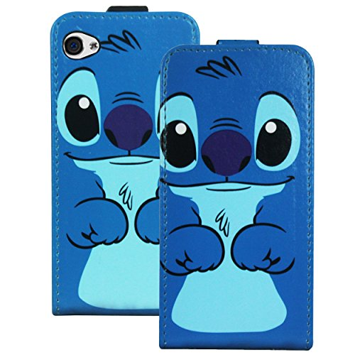 Heartly Designed Premium Luxury Pu Leather Front Flip Bumper Case Cover For Apple iPhone 4 4S 4G - LightBlue  available at amazon for Rs.199