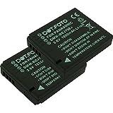 2 x Dot.Foto Batterie de qualité pour Panasonic DMW-BCJ13E avec InfoChip - garantie de 2 ans - pour Panasonic Lumix DMC-LX5, DMC-LX7