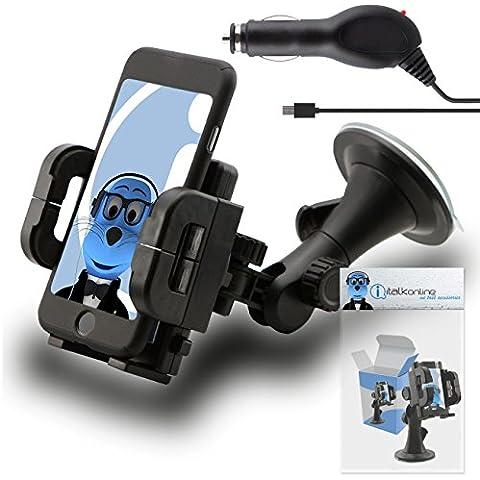 iTALKonline (CAR KIT CONFEZIONE) In Car Holder aspirazione supporto per parabrezza e caricabatteria da auto In auto 12/24V per Blackberry 9105 Pearl 2