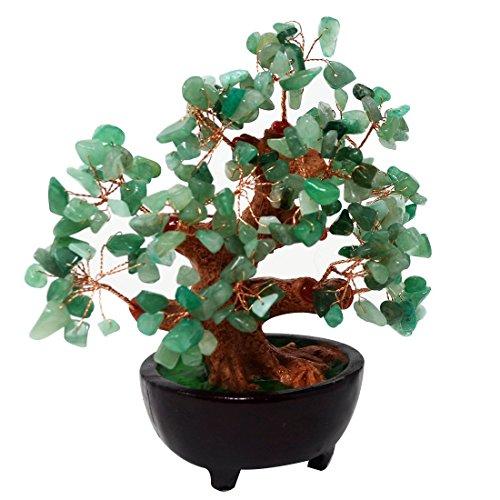 Feng Shui Natur Grün Quarz Kristall Geld Baum Bonsai Stil Dekoration für Reichtum und Glück HN130 Glück, Geld, Baum