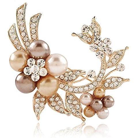 DELLT- Coreano monili eleganti fiori grande spilla accessori spilla boutique di moda Regali