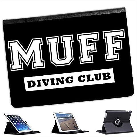 Risque (piel sintética, función atril), diseño con función atril para Apple iPad modelos negro Muff Diving Club Funny Sex Gift iPad Air 2