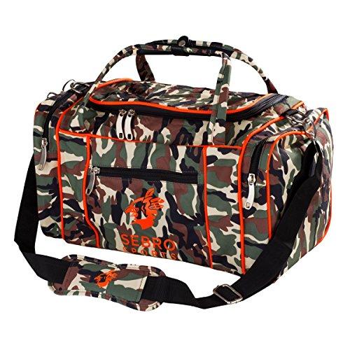 Sporttasche für Damen und Herren - Mit vielen Seitenfächern und Tragegurt für Fitness, Sport und Reisen -